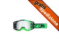 Maschera MX JUST1 Iris Carbon Fluo Green